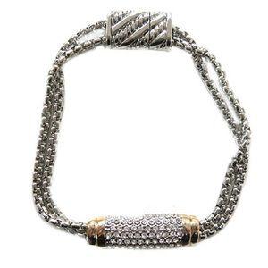 Pavé Crystal Bar Bracelet, NWT